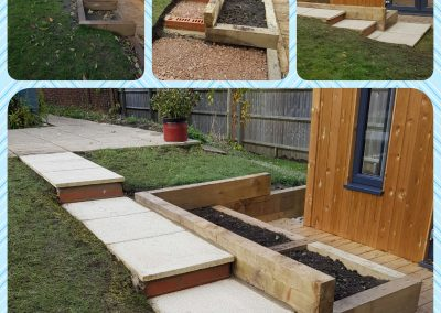 Wallingford Sleeper Wall Paving Steps